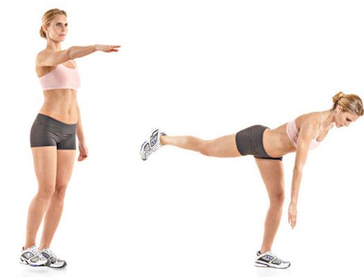 Single leg balancing exercises