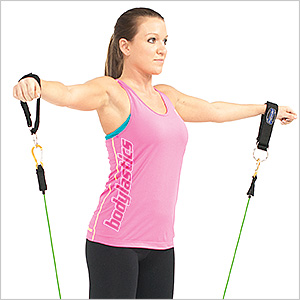 Shoulder Raises With Resistance Band