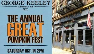George Keeley Pumpkin Palooza Bar 365 Guide New York City NYC