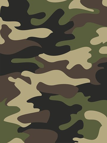Black Camouflage Wallpaper Camouflage Pattern Background Seamless Vector Illustration