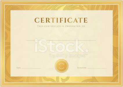 Certificate / Diploma Template Gold Award Background ( stock vectors - Award Paper Template