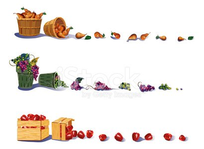 Fruit Harvest Borders stock vectors - 365PSD