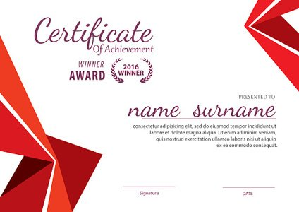 Certificate Template,diploma Layout,a4 Size ,vector stock vectors - certificate layout