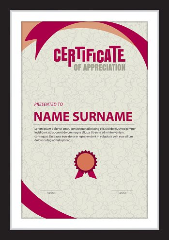 Certificate Template,abstract Diploma Layout,a4 Size ,vector stock