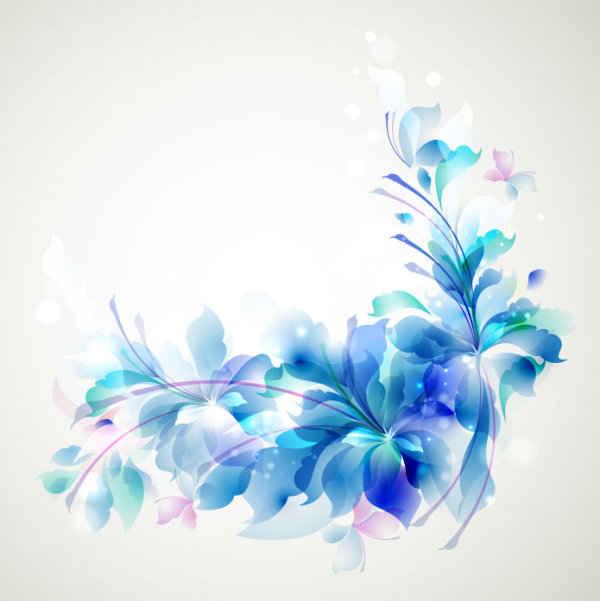 Free Elegant Blue Flower background PSD files, vectors  graphics
