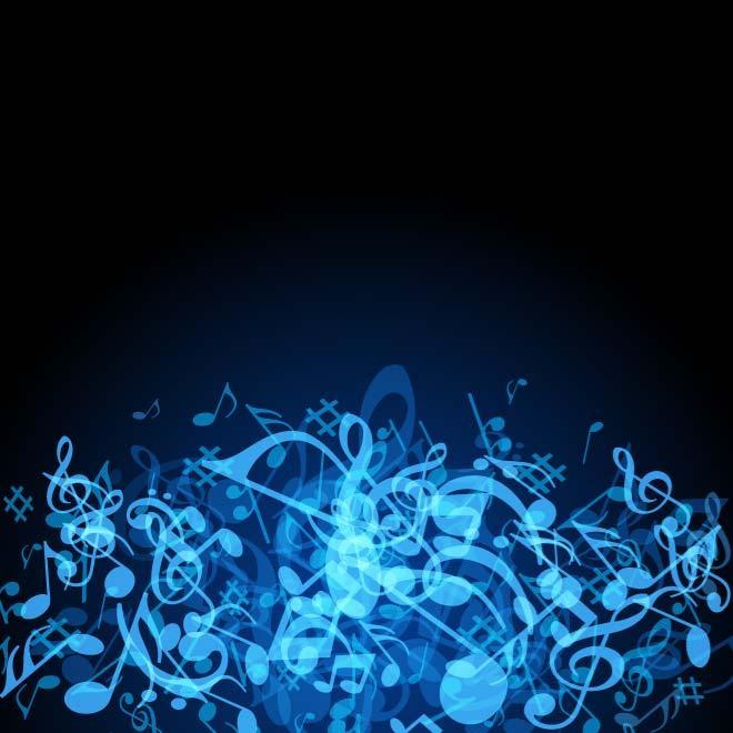 Free DARK BLUE MUSIC BACKGROUND VECTOReps PSD files, vectors