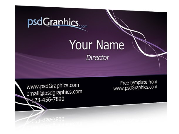 Free Purple business card template PSD files, vectors  graphics