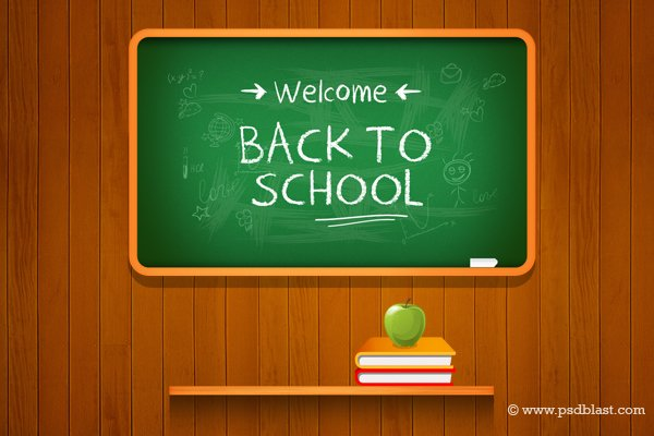 Free Vector Back to school Background (PSD) PSD files, vectors