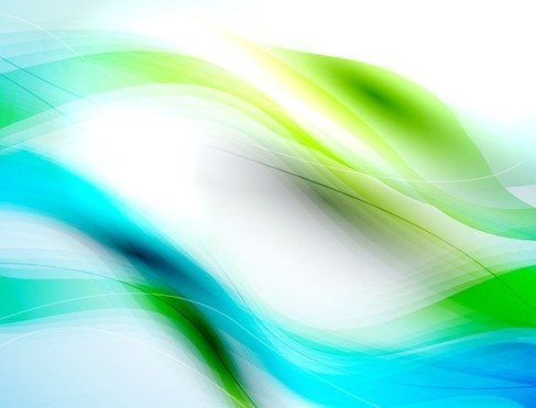 Free Abstract Blue Green Waves Background PSD files, vectors