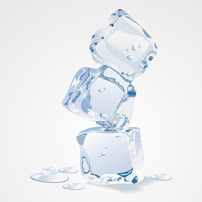 Free Pile of Ice Cubes PSD files, vectors  graphics - 365PSD