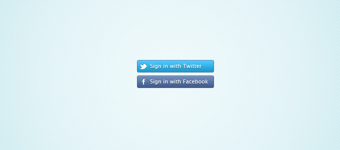 Free Twitter and Facebook Connect Buttons PSD files, vectors