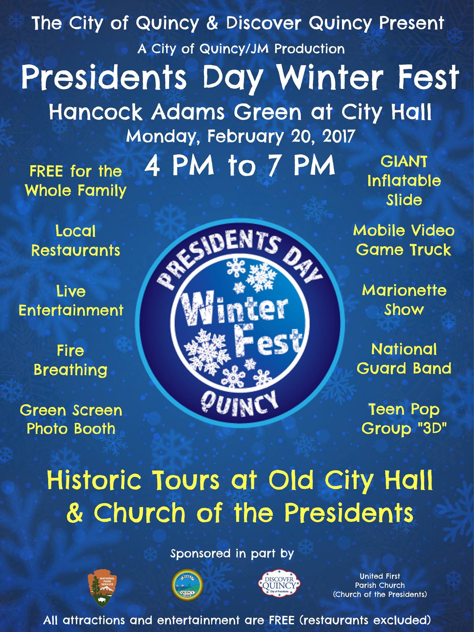 Cucina Mia Quincy Hours President S Day Winterfest 2017 In Quincy Ma 365 Things To Do In