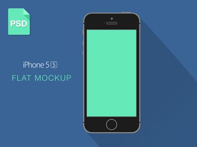 iPhone 5S Mockup Flat PSD