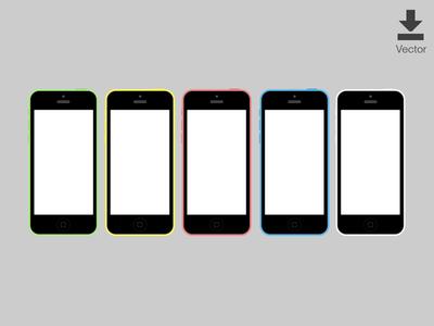 iPhone 5c Vector Download Vector