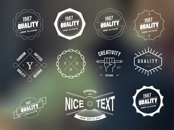 30+ Free Vector  PSD Badge Sets For Web and Graphic Designers - 365 - hipster logo template