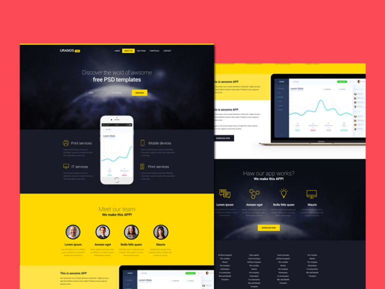 100+ Free Landing Page (Single Page App) Templates To Increase Your - Free App Template