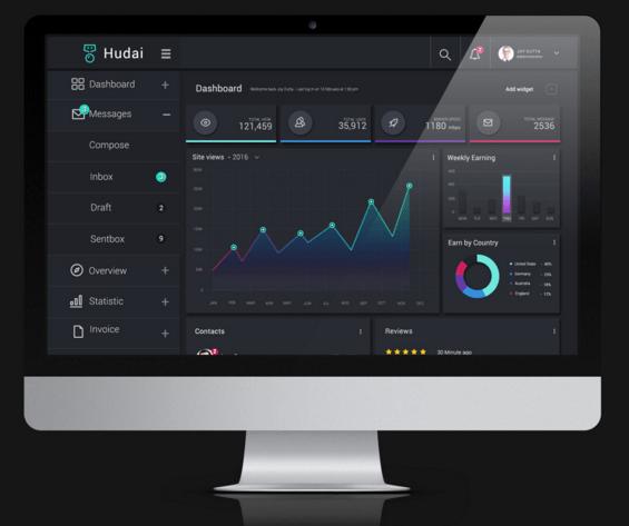 Freebie Admin Dashboard ( PSD )