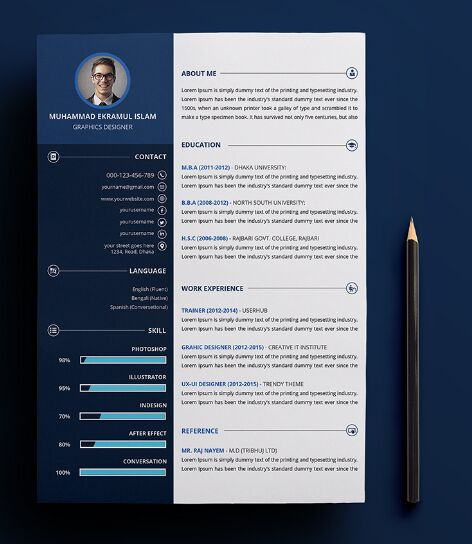 130+ New Fashion Resume / CV Templates For Free Download - 365 Web - resume/cv template