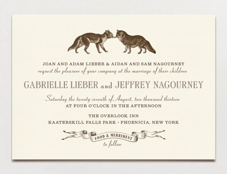 Wedding Invitation Wording Formal Modern Fun A
