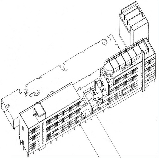 The Narkomfin Building in Moscow (1928-29) a Built Experiment on - copy construction blueprint school