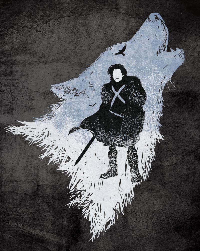 3d Vinyl Wallpaper Snow Geek Art Gallery Posters Game Of Thrones Characters