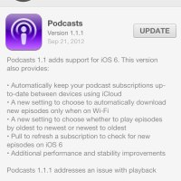 iOS App updates: Podcasts 1.1.1