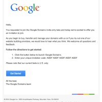 Google Domains Invitation