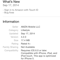 Amazon App for iOS is Updated with Touch ID Support