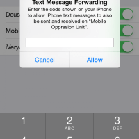 iOS 8.1: Text Message Forwarding