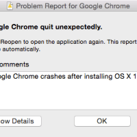 Google Chrome Crashes in OS X Yosemite 10.10.2 Beta