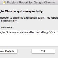 Google Chrome Crashes in OS X Yosemite 10.10.2 Beta