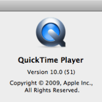 Mac OS X Snow Leopard 10A421a: New QuickTime Icon.
