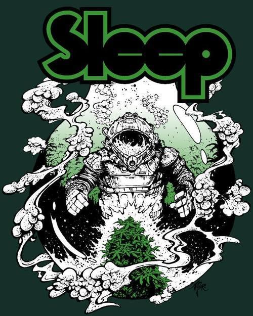 Ganja Girl Wallpaper Doomed Amp Stoned New Sleep T From Iconic Nw Artist Arik Roper