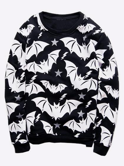 Halloween Clothes skeleton clothing sweatshirt 8 Harajuku Fashion