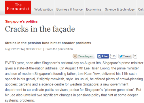 The Economist article on Singapore