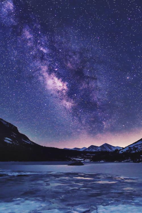 Frozen Quotes Wallpaper Snow Lake Sky Landscape Upload Night Galaxy Stars