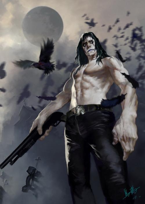 The crow by crow-god