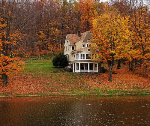 Serene Wallpapers Large Fall Lake Fall Autumn Lakehouse Gabrielle Desade
