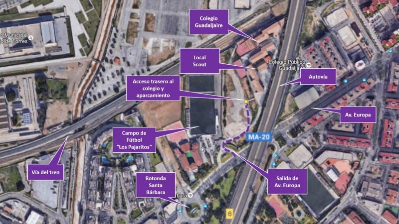 Mapa Grupo Scout 39 Santo Ángel - Málaga