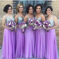 Purple Bridesmaid Dress, Sequin Bridesmaid Dresses, Long ...