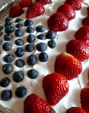 A 4th of July Tradition, Flag Cake