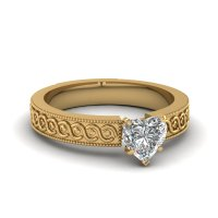 Shop For Stunning Heart Shaped Solitaire Engagement Rings ...
