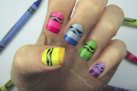 Crayon Nail Art And Other Back-To-School Nail Designs ...