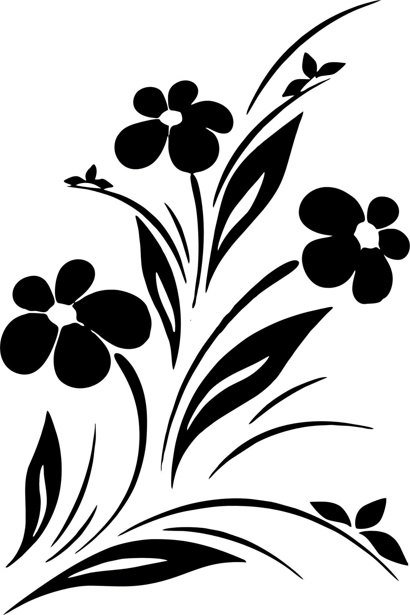 Black And White Art Ideas Simple Flower Designs Black And White Vector Art Jpg Image