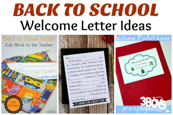 Welcome Back to School Letters \u2013 3 Boys and a Dog \u2013 3 Boys and a Dog