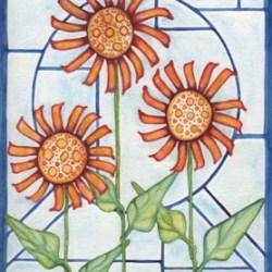 """3 Flowers #3 8"""" x 10"""""""