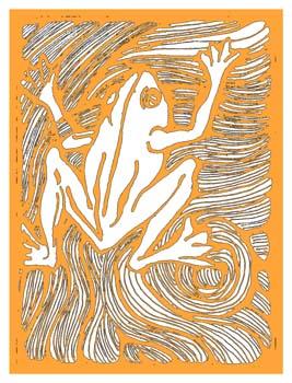 FROG1 orange & white