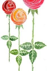"""Deco Roses 4.25"""" x 9"""""""