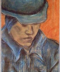 "Hard Hat Sally 12"" x 20"""