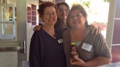 Jan Connal, Bailey Smith and Madelyn Arballo (with Honey Bear)